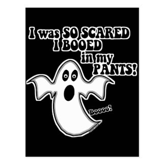 Funny Halloween Ghost Postcard