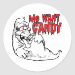 Funny Halloween Ghost Round Stickers