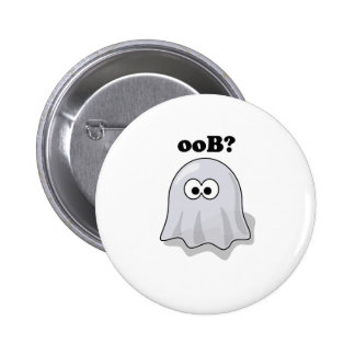 Funny Halloween Ghost Says Boo Backwards 2 Inch Round Button