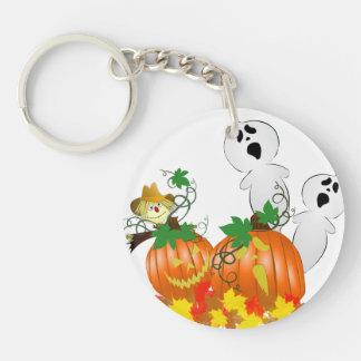 Funny Halloween Ghosts Keychain