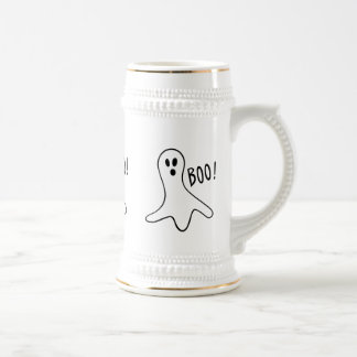 funny halloween ghosts shouting boo! beer stein