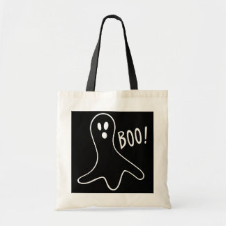 funny halloween ghosts shouting boo! budget tote bag