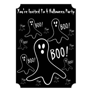 funny halloween ghosts shouting boo! card