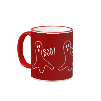 funny halloween ghosts shouting boo mugs