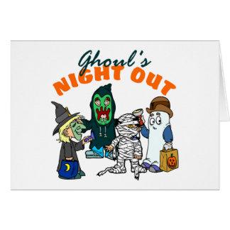 Funny Halloween Ghoul Halloween Card
