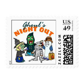 Funny Halloween Ghoul Postage