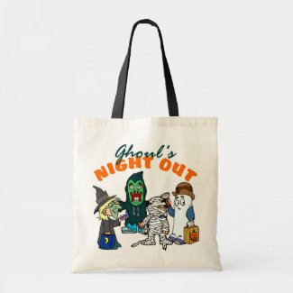 Funny Halloween Ghoul Trick Or Treat Tote Bag