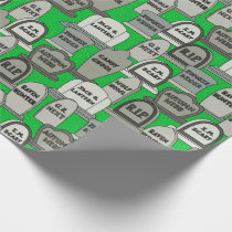 Funny Halloween Gravestones Wrapping Paper