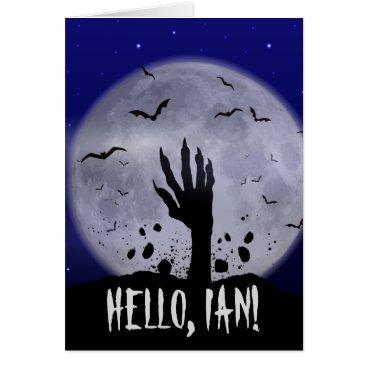 Halloween Themed Funny Halloween Greeting Card for Ian