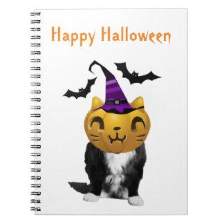 Funny Halloween Grumpy Cat Note Books