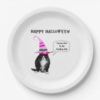 Funny Halloween Grumpy Cat Paper Plates