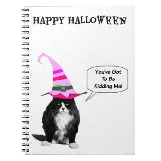 Funny Halloween Grumpy Cat Spiral Notebook