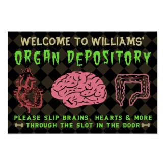 Funny Halloween Haunted Organ Depository | Custom Poster
