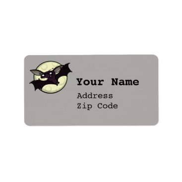 Halloween Themed FUNNY HALLOWEEN HIPSTER BAT ADDRESS LABEL