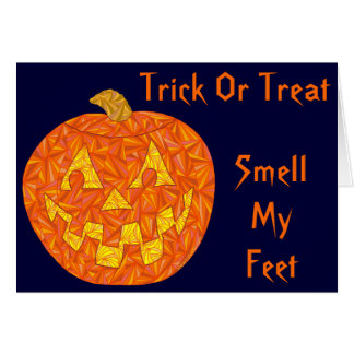 Funny Halloween Humor Smell My Feet Rhyme Card