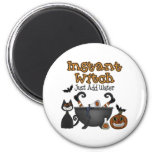 Funny Halloween Instant Witch Magnet