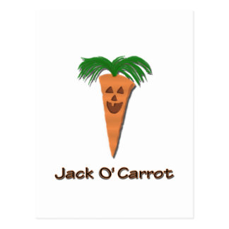Funny Halloween Jack O' Carrot Postcard