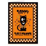 Funny Halloween Kitty Card