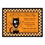 Funny Halloween Kitty Invitation