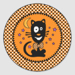 Funny Halloween Kitty Sticker