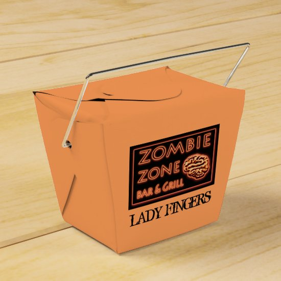 Funny Halloween Lady Fingers Zombie Food Takeout Favor Box