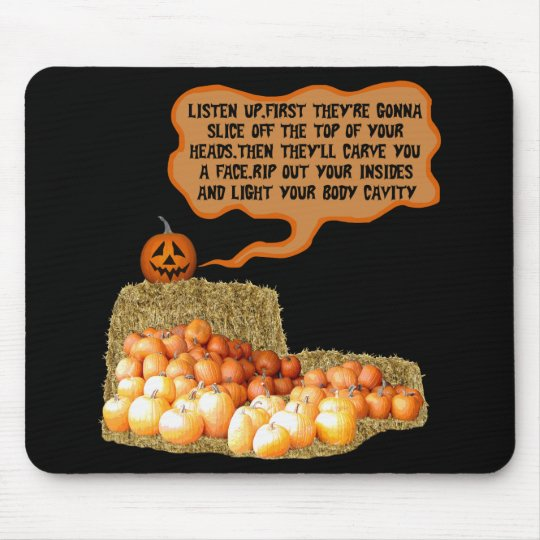 Funny halloween mouse pad