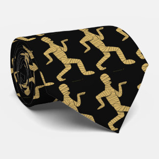 Funny Halloween Necktie Egyptian Mummy Pyramids