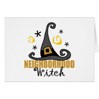 Funny Halloween Neighborhood Witch Halloween Card