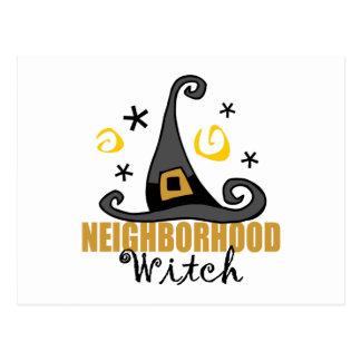 Funny Halloween Neighborhood Witch Postcards