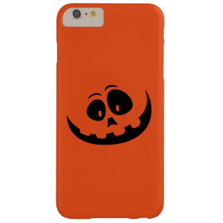 Funny Halloween Orange Jack O'Lantern Barely There iPhone 6 Plus Case