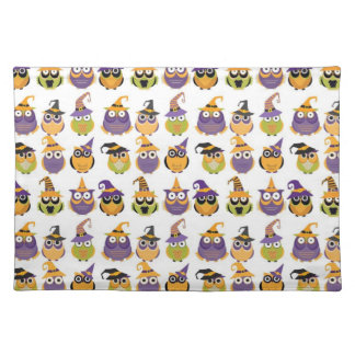 Funny Halloween Owls Cloth Place Mat