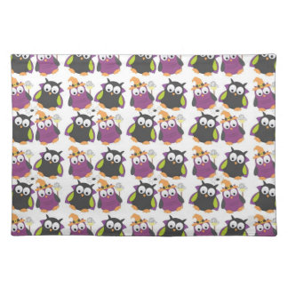 Funny Halloween Owls Cloth Placemat