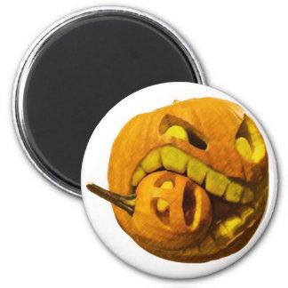 Funny Halloween Pumkin Head 2 Inch Round Magnet