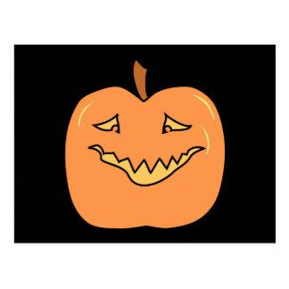 Funny Halloween Pumpkin Cartoon Post Cards