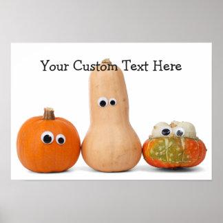Funny Halloween Pumpkins custom poster