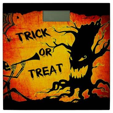 Halloween Themed Funny Halloween Skeleton Tree Trick or Treat Bathroom Scale