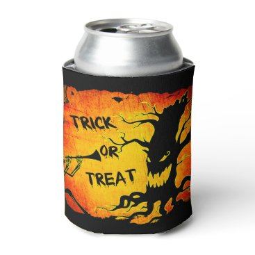 Halloween Themed Funny Halloween Skeleton Tree Trick or Treat Can Cooler