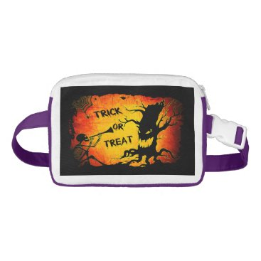 Halloween Themed Funny Halloween Skeleton Tree Trick or Treat Fanny Pack