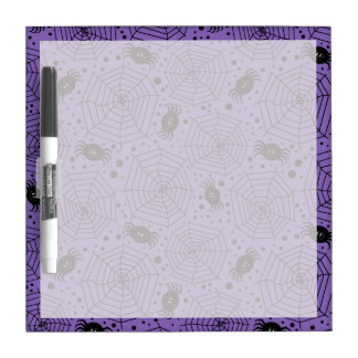 Funny Halloween Spiders Dry Erase Boards