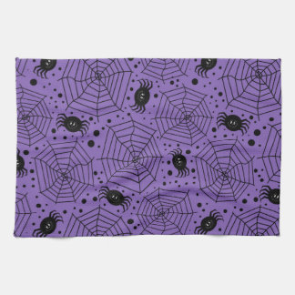 Funny Halloween Spiders Hand Towels