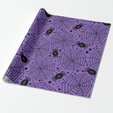 Halloween Themed Funny Halloween Spiders Wrapping Paper