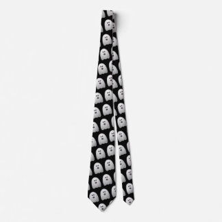 Funny Halloween Spooky Ghost Office Work Costume Tie
