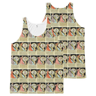 Funny Halloween Tarot Card Style Collage All-Over Print Tank Top