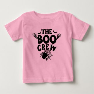 Funny Halloween The Boo Crew For Girls Baby T-Shirt