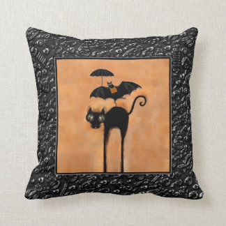 Funny Halloween Throw Pillow