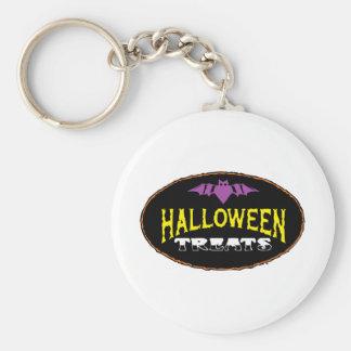 funny halloween treats keychain