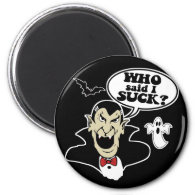 Funny Halloween Vampire 2 Inch Round Magnet
