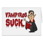 Funny Halloween Vampires Suck Greeting Card