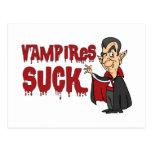Funny Halloween Vampires Suck Postcard