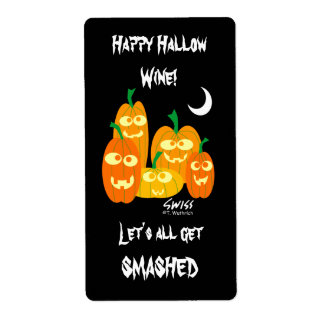 Funny Halloween Wine Labels